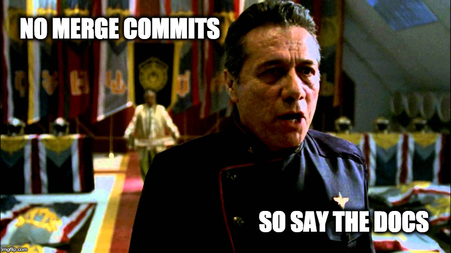 No merge commits